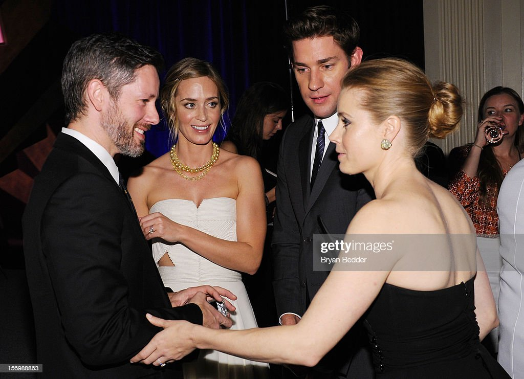Darren Le Gallo, actors Emily Blunt, John Krasinski and Amy Adams attend the IFP's 22nd Annual Gotham Independent Film Awards at Cipriani Wall Street on November 26, 2012 in New York City.