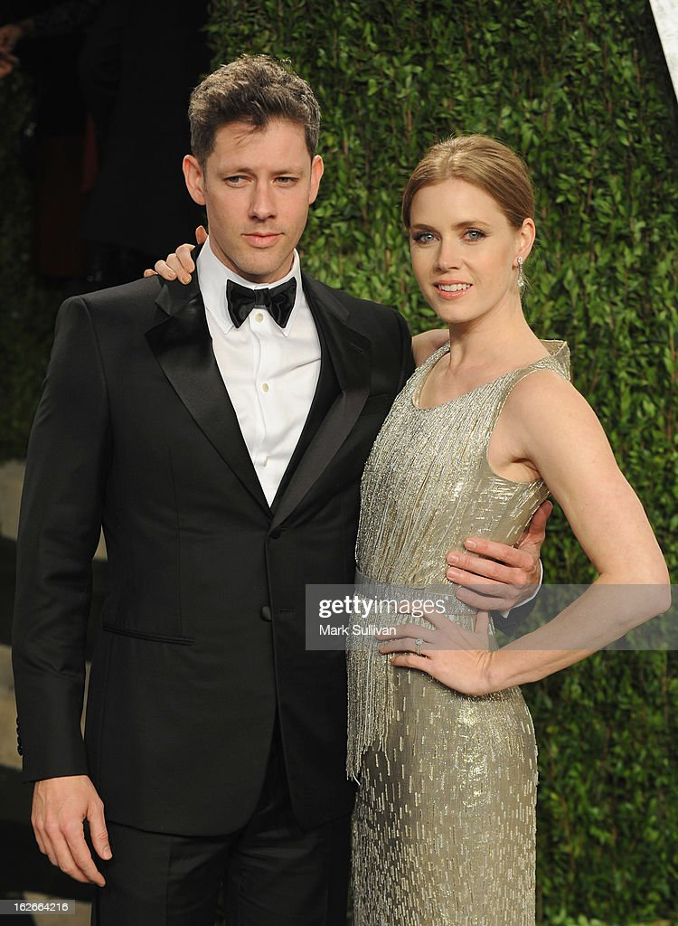 Darren Le Gallo and actress Amy Adams arrives at the 2013 Vanity Fair Oscar Party at Sunset Tower on February 24, 2013 in West Hollywood, California.