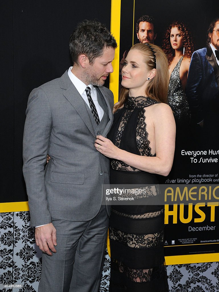 Darren Le Gallo and Amy Adams attend the 'American Hustle' screening at Ziegfeld Theater on December 8, 2013 in New York City.