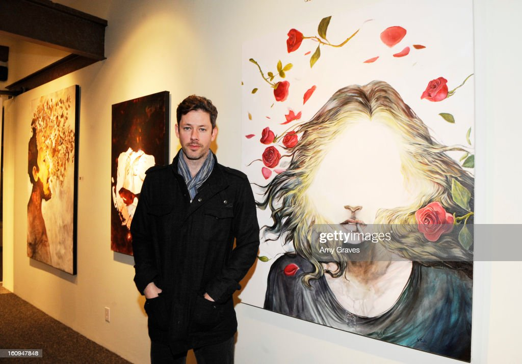 Darren Le Gallo attends his 'Nothing You Don't Know' Exhibition hosted by Trigg Ison Fine Art, Amy Adams and Justin Timberlake at Trigg Ison Fine Arts Gallery on February 7, 2013 in West Hollywood, California.
