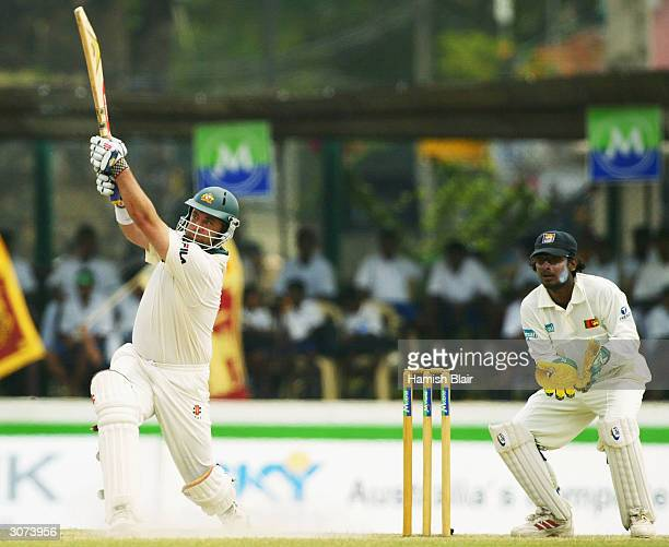 Darren Lehmann of Australia in action during day four of the First Test between Australia and Sri Lanka played at the Galle International Cricket...