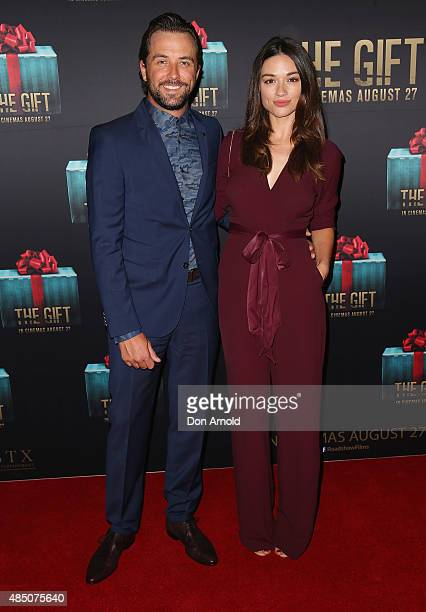 Darren McMullen and Crystal Reed arrive ahead of 'The Gift' Sydney Premiere at Event Cinemas George Street on August 24 2015 in Sydney Australia