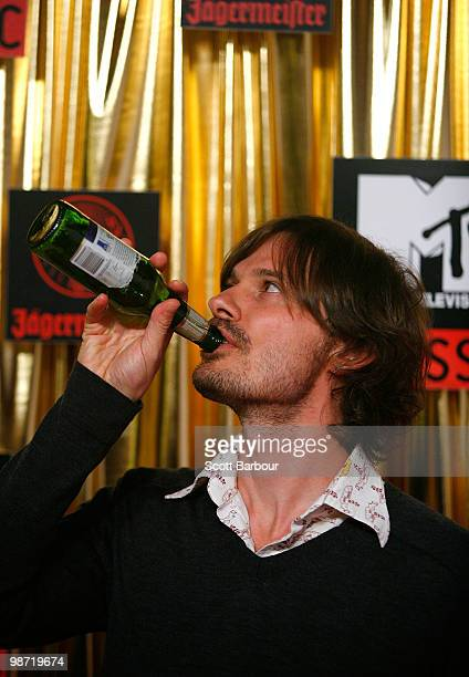 Darren Middleton of Powderfinger arrives at the 'MTV Classic The Launch' music event at the Palace Theatre on April 28 2010 in Melbourne Australia...