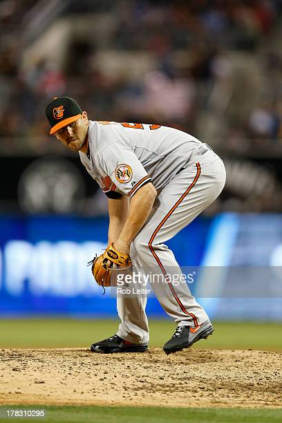 Darren O'Day of the Baltimore Orioles pitches during the game against the San Diego Padres at Petco Park on August 6 2013 in San Diego California The...