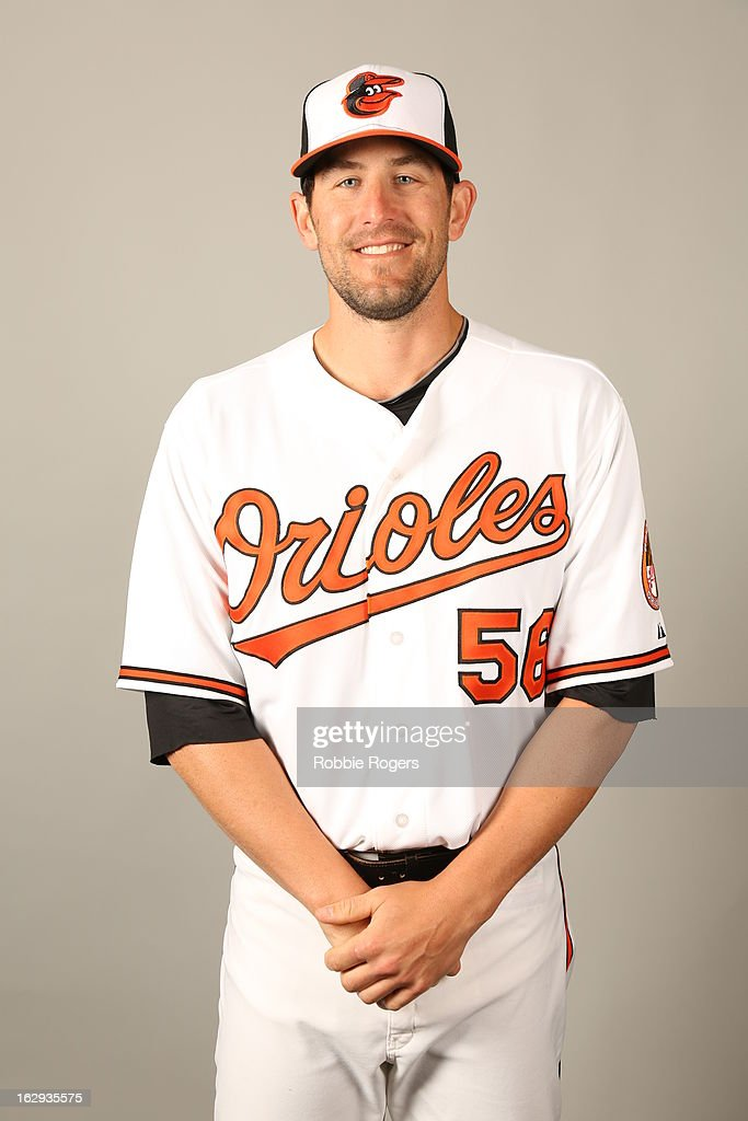Darren O'Day of the Baltimore Orioles poses during Photo Day on February 22 2013 at Ed Smith Stadium in Sarasota Florida