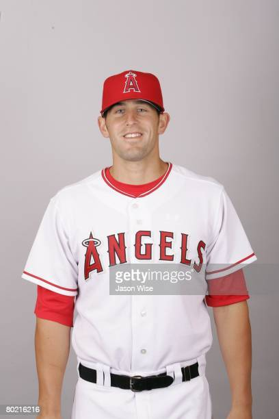 Darren O'Day of the Los Angeles Angels of Anaheim poses for a portrait during photo day at Tempe Diablo Stadium on February 22 2008 in Tempe Arizona
