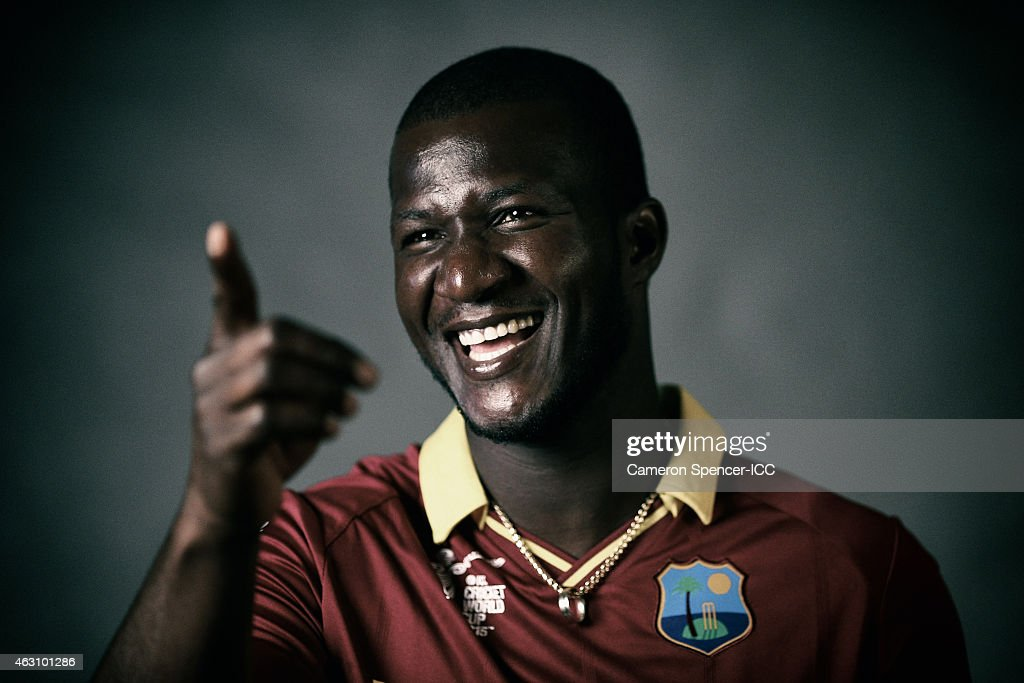 <a gi-track='captionPersonalityLinkClicked' href=/galleries/search?phrase=Darren+Sammy&family=editorial&specificpeople=2920912 ng-click='$event.stopPropagation()'>Darren Sammy</a> of the West Indies poses during the West Indies 2015 ICC Cricket World Cup Headshots Session at the Intercontinental on February 8, 2015 in Sydney, Australia.