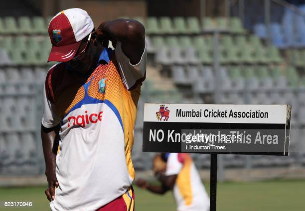 Darren Sammy of West Indies Team practice's at Wankhede Stadium in Mumbai on Sunday