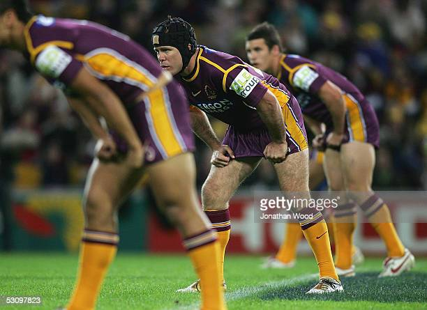 Darren Smith of the Broncos in action during the round 15 NRL match between the Brisbane Broncos and West Tigers at Suncorp Stadium on June 18 2005...