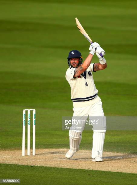 Darren Stevens of Kent bats during day one of the Specsavers County Championship Division Two match between Sussex and Kent at The 1st Central County...