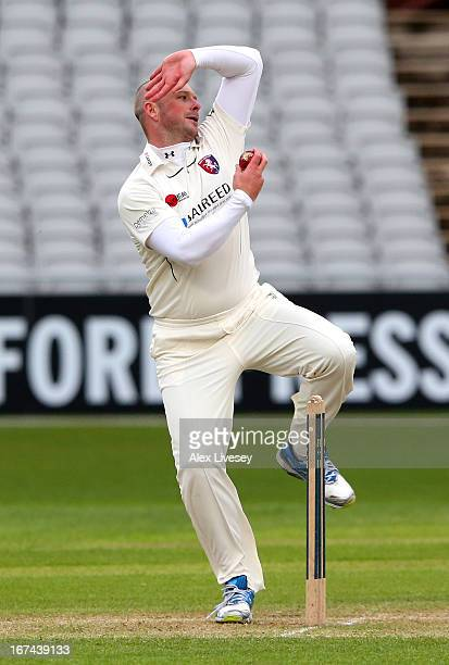 Darren Stevens of Kent in action during the LV County Championship Division Two match between Lancashire and Kent at Emirates Old Trafford on April...