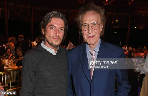 Darren Strowger and Sir Ray Davies attend the Roundhouse Gala at The Roundhouse on March 16 2017 in London England