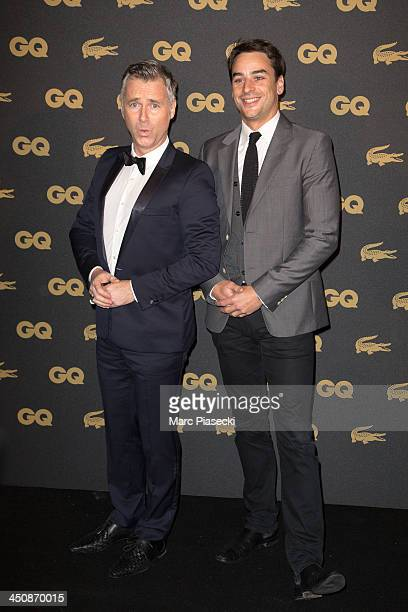 Darren Tulett and Julian Bugier attend the 'GQ Men of the year awards 2013' at Museum d'Histoire Naturelle on November 20 2013 in Paris France