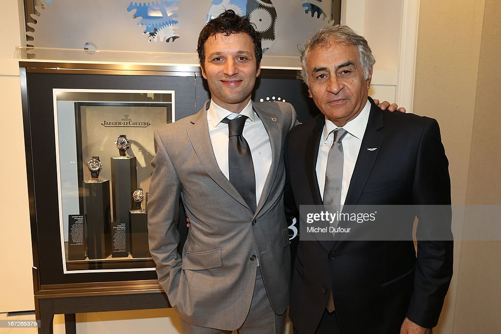 Darren Turner and Alain Aziza attend the 'Jaeger Lecoultre' Coktail Party at Place Vendome on April 22 2013 in Paris France