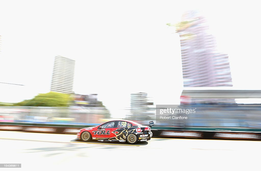 Darren Turner of Great Britain drives the Holden Racing Team during practice for the Gold Coast 600 which is round 12 of the V8 Supercars...