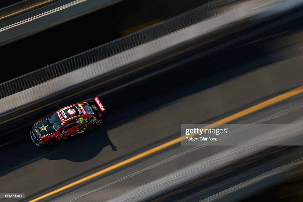 Darren Turner of Great Britain drives the Holden Racing Team Holden during practice for the Gold Coast 600 which is round 12 of the V8 Supercars...