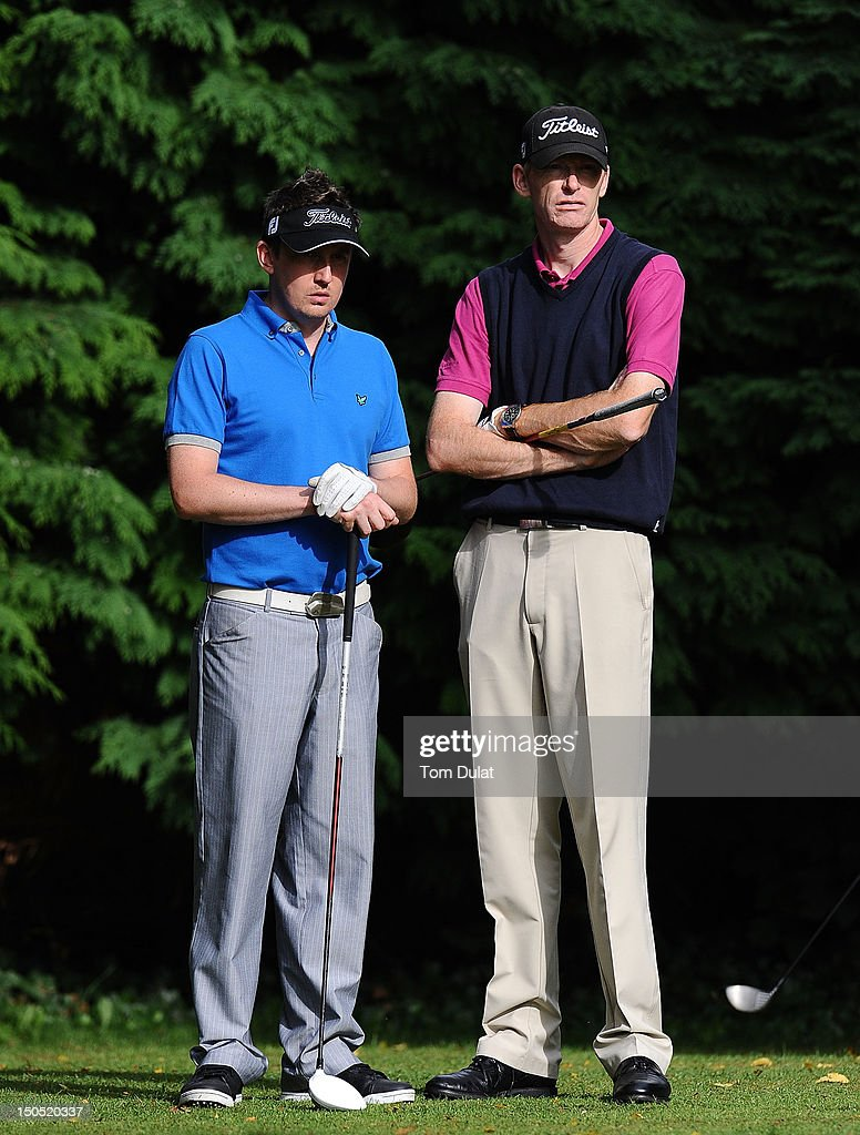 Darren Turner of South Essex Golf Centre and Darren Charlton of Dunstable Downs Golf Club look on during the Skins PGA Fourball Championship Regional...