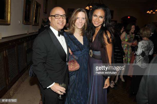 Darren Walker Katherine Marron and Susan Fales Hill attend The 2010 LIBRARY LIONS GALA at The New York Public Library on November 1 2010 in New York...