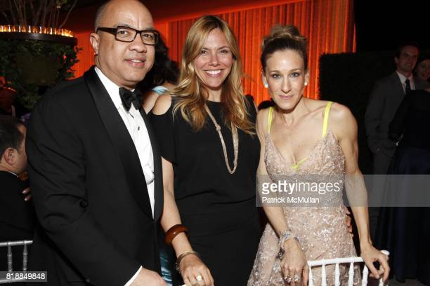 Darren Walker Sarah Jessica Parker and Amy Harris attend NEW YORK CITY BALLET Spring Gala 2010 Arrivals at Lincoln Center on April 29 2010 in New York