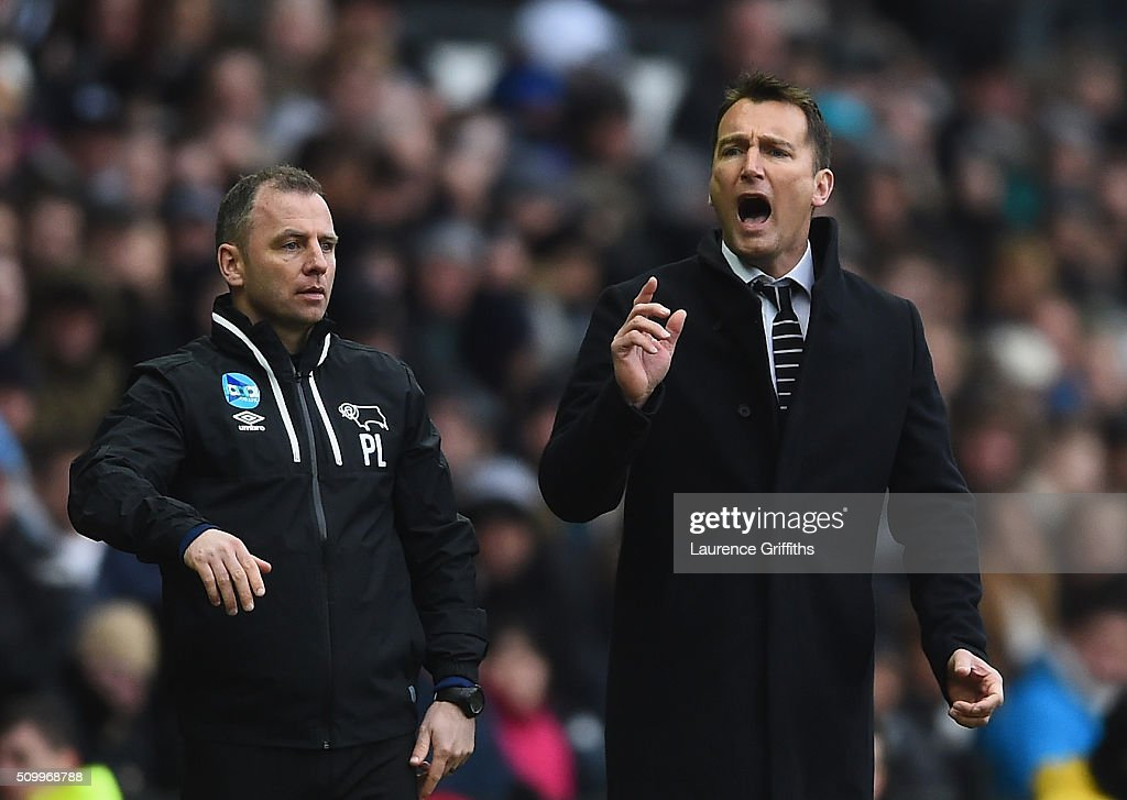 Darren Wassall of Derby County looks on during the Sky Bet Championship match between Derby County and Milton Keynes Dons at iPro Stadium on February 13, 2016 in Derby, United Kingdom.