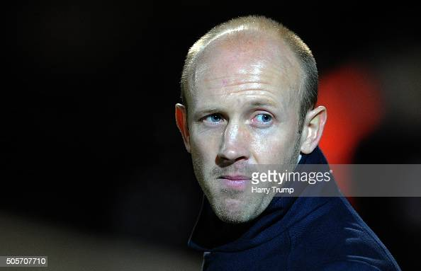 Darren Way Manager of Yeovil Town during the Emirates FA Cup Third Round replay match between Yeovil Town and Carlisle United at Huish Park on...