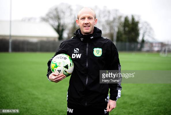 Darren Way Manager of Yeovil Town poses for a portrait at Hush Park on February 2 2017 in Yeovil England