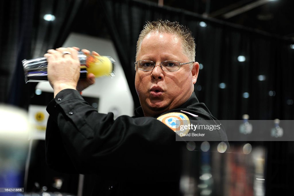 Darren West competes in the Don Julio Tequila Bartender Challenge at the 28th annual Nightclub & Bar Convention and Trade Show at the Las Vegas Convention Center on March 21, 2013 in Las Vegas, Nevada.