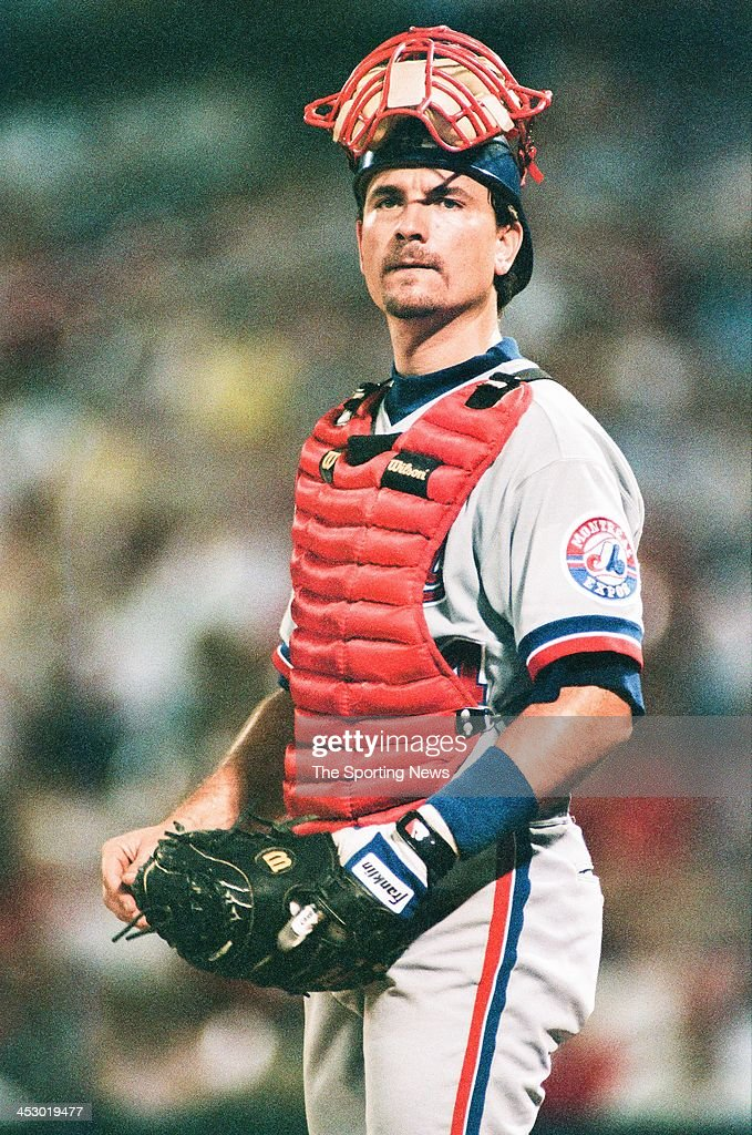 <a gi-track='captionPersonalityLinkClicked' href=/galleries/search?phrase=Darrin+Fletcher&family=editorial&specificpeople=233630 ng-click='$event.stopPropagation()'>Darrin Fletcher</a> of the Montreal Expos during the game against the St. Louis Cardinals on August 27, 1997 at Busch Stadium in St. Louis, Missouri.
