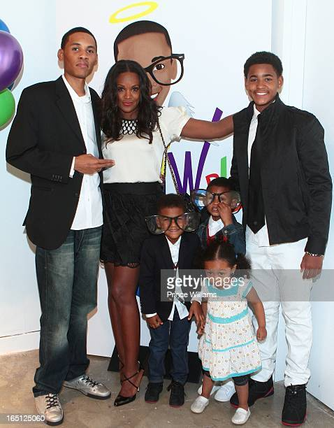 Darrin Glover Tameka Foster Naviyd Raymond Usher Raymond V and Ryan Glover Jr attend the birthday and foundation lanuch Kile's World to honor Kile...