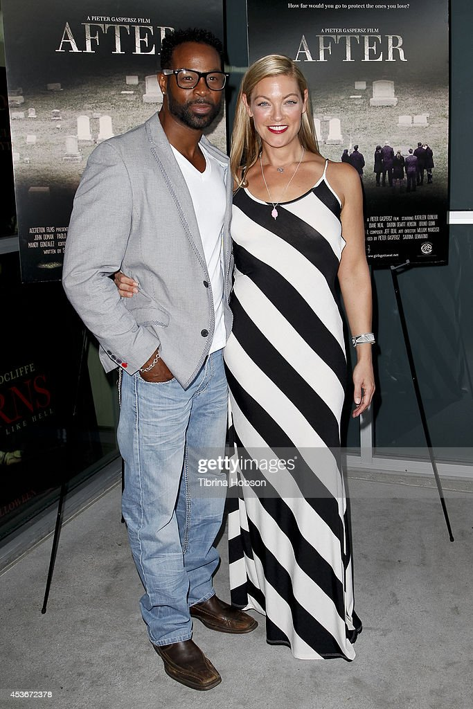 Darrin Henson and Sabrina Gennarino attend the premiere of 'After' at Laemmle NoHo 7 on August 15, 2014 in North Hollywood, California.