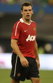 Darron Gibson of Manchester United in action during the preseason friendly match between Manchester United and Celtic at Rogers Centre on July 16...