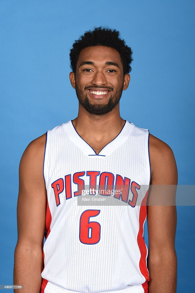 <a gi-track='captionPersonalityLinkClicked' href=/galleries/search?phrase=Darrun+Hilliard&family=editorial&specificpeople=8710176 ng-click='$event.stopPropagation()'>Darrun Hilliard</a> II #6 of the Detroit Pistons poses for a portrait during media day on September 28, 2015 at The Palace of Auburn Hills in Auburn Hills, Michigan.