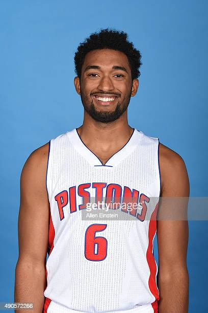 Darrun Hilliard II of the Detroit Pistons poses for a portrait during media day on September 28 2015 at The Palace of Auburn Hills in Auburn Hills...