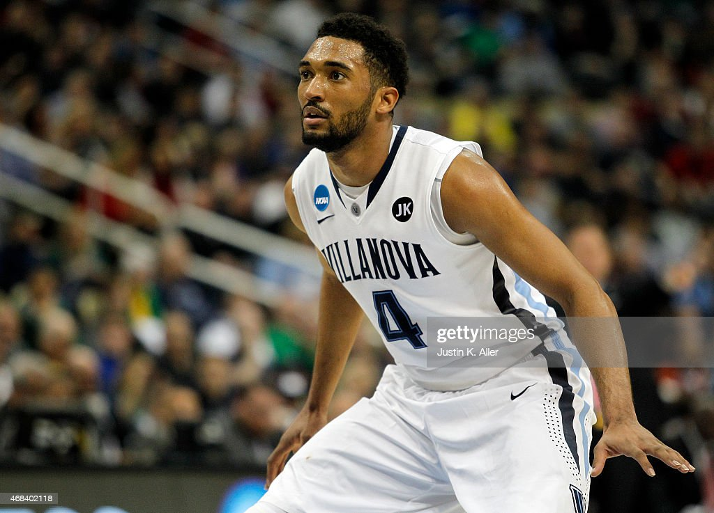 <a gi-track='captionPersonalityLinkClicked' href=/galleries/search?phrase=Darrun+Hilliard&family=editorial&specificpeople=8710176 ng-click='$event.stopPropagation()'>Darrun Hilliard</a> II #4 of the Villanova Wildcats plays against the North Carolina State Wolfpack during the third round of the 2015 NCAA Men's Basketball Tournament at Consol Energy Center on March 21, 2015 in Pittsburgh, Pennsylvania.