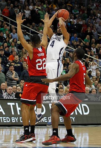 Darrun Hilliard II of the Villanova Wildcats plays against the North Carolina State Wolfpack during the third round of the 2015 NCAA Men's Basketball...