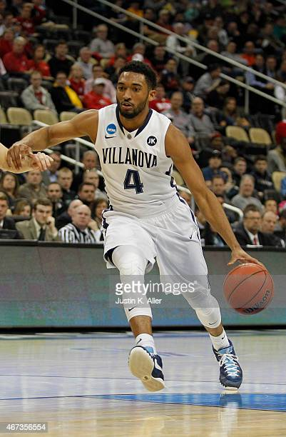 Darrun Hilliard II of the Villanova Wildcats plays against the Lafayette Leopards during the second round of the 2015 NCAA Men's Basketball...