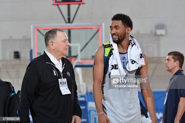 Darrun Hilliard of the Detroit Pistons after the game against the Los Angeles Clippers on July 5 2015 at Amway Center in Orlando Florida NOTE TO USER...