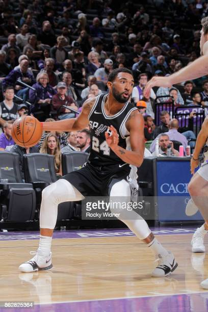 Darrun Hilliard of the San Antonio Spurs handles the ball against the Sacramento Kings on October 2 2017 at Golden 1 Center in Sacramento California...
