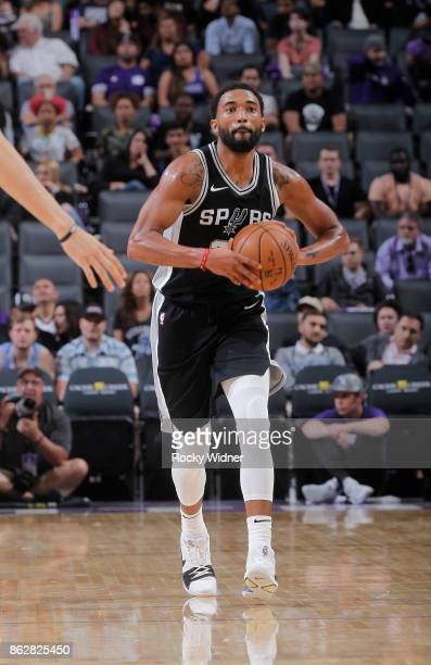 Darrun Hilliard of the San Antonio Spurs passes against the Sacramento Kings on October 2 2017 at Golden 1 Center in Sacramento California NOTE TO...