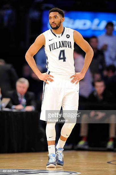 Darrun Hilliard of the Villanova Wildcats looks on during the championship game of the Big East basketball tournament against the Xavier Musketeers...