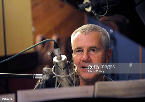 Darryl Braithwaite at the microphone in a recording studio on 2nd June 2008 in Melbourne Australia