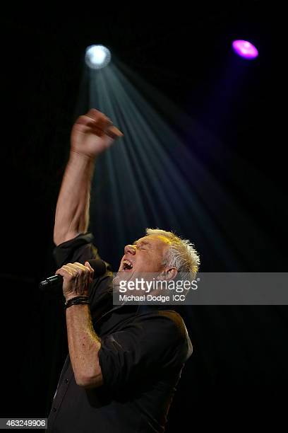 Darryl Braithwaite sings during the Opening Ceremony ahead of the ICC 2015 Cricket World Cup at Sidney Myer Music Bowl on February 12 2015 in...