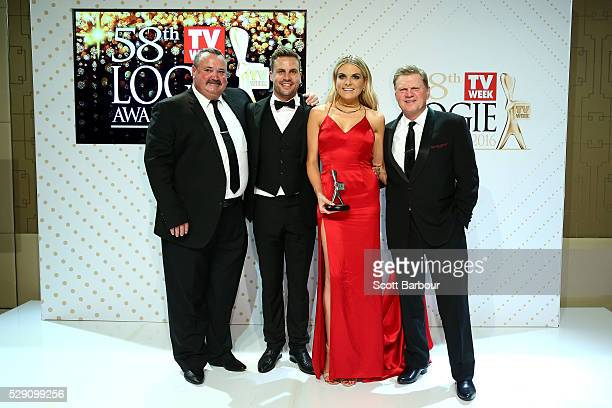 Darryl Brohman Beau Ryan Erin Molan and Paul Vautin pose with the Logie Award for Best Sports Program 'The NRL Footy Show' during the 58th Annual...