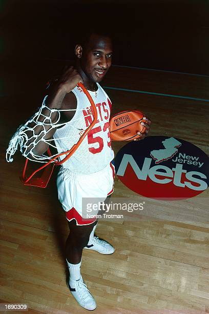 Darryl Dawkins of the New Jersey Nets poses for a portrait after a 1984 NBA game at the Brendan Byrne Arena in East Rutherford New Jersey NOTE TO...