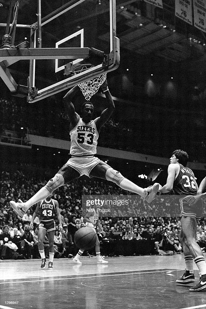 ... Basketball Jersey Any Player - borizcustom Darryl Dawkins 53 of the Philadelphia  76ers dunks against the Boston Celtics during ... 4333c00f8