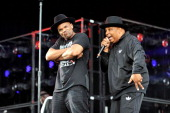 Darryl DMC McDaniels and Joseph Rev Run Simmons of Run–DMC perform during Budweiser Made In America Festival Benefiting The United Way Day 2 at...