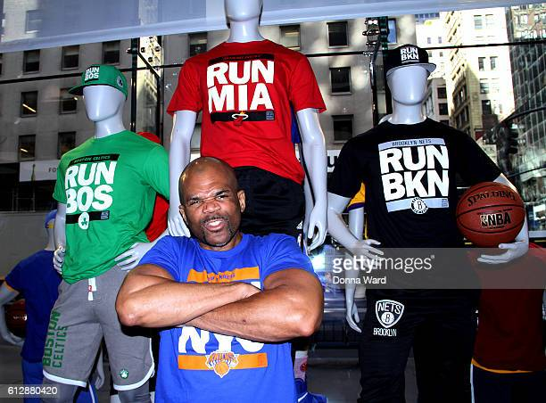 Darryl 'DMC' McDaniels appears during the Fanatics RUNCTY Launch at the NBA Store on October 5 2016 in New York City
