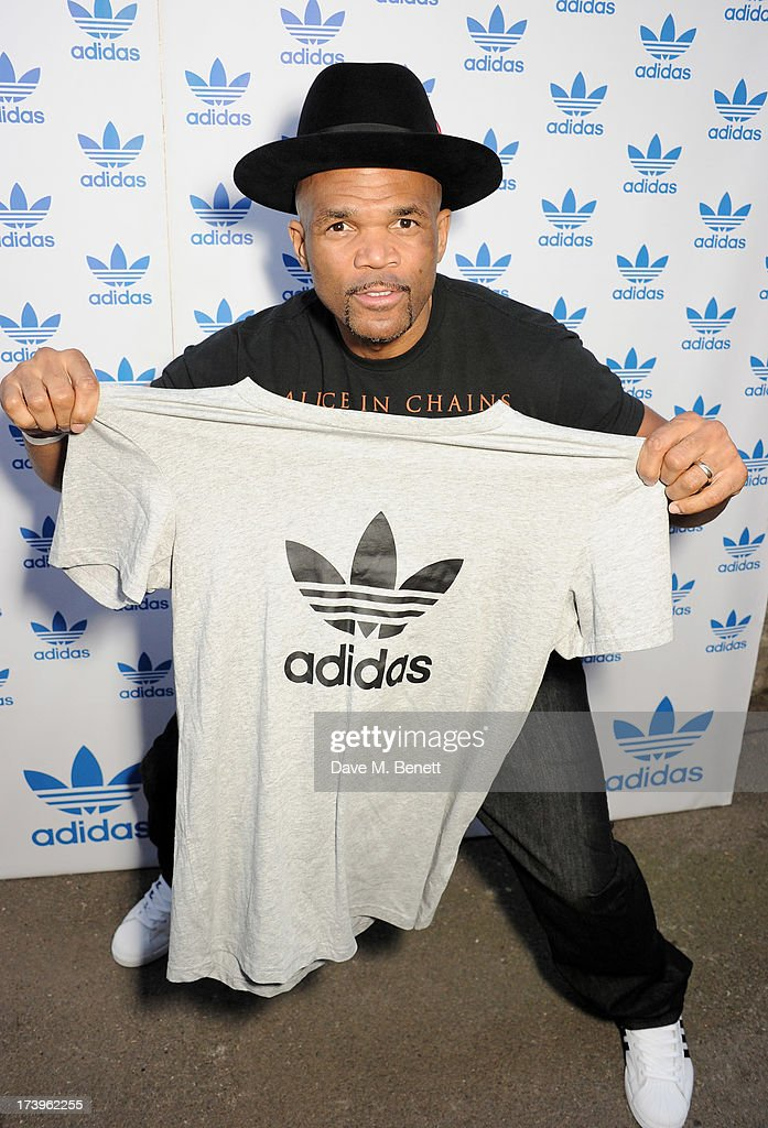 Darryl 'DMC' McDaniels attends the launch of the adidas #Spezial exhibtion, showcasing 600 pairs of adidas trainers, at Hoxton Gallery on July 18, 2013 in London, England.
