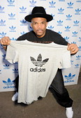 Darryl 'DMC' McDaniels attends the launch of the adidas #Spezial exhibtion showcasing 600 pairs of adidas trainers at Hoxton Gallery on July 18 2013...