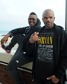 Darryl 'DMC' McDaniels of RUN DMC and his son Dson McDaniels attends day 1 of the 1st Annual Asbury Park Music In Film Festival at The Stone Pony on...